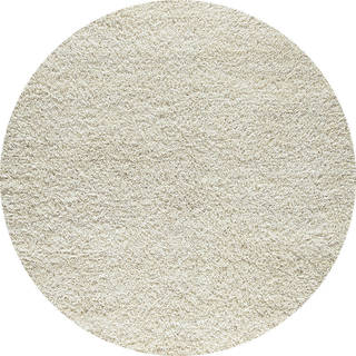 Indo Hand-woven Shanghai Mix White Rug (3' Round)