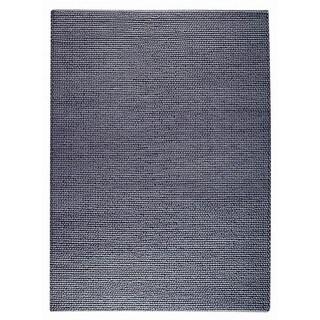 Indo Hand-woven Ladhak Grey Rug (4'6 x 6'6)