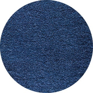 Indo Hand-woven Shanghai Mix Blue Rug (3' Round)