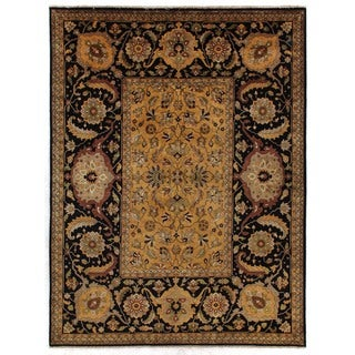 Tabriz Gold and Black New Zealand Wool Rug (15' x 20')