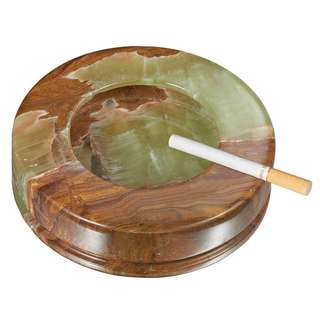 Visol Disk II Multicolored Round Onyx Stone Cigarette Ashtray with 3 Rests