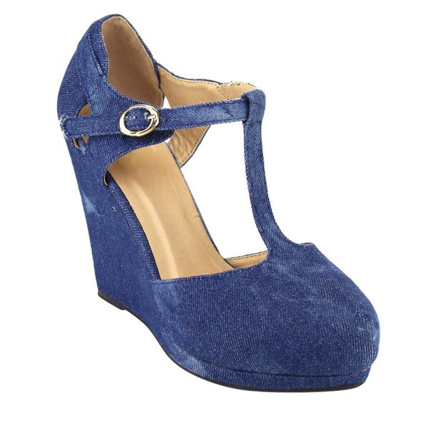 Beston T-Strap Wedges