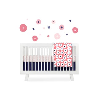 Babyletto In Bloom Floral Cotton Fitted Mini Crib Sheet