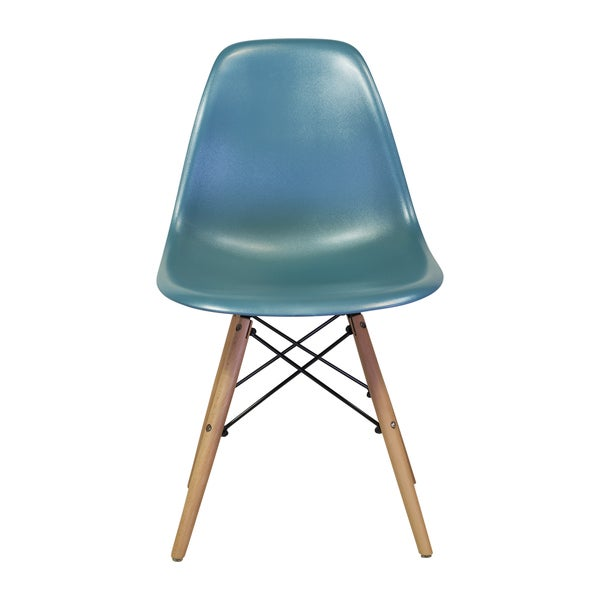 Eames style mid century modern teal side chair india for Modern dining chairs india