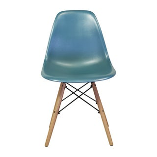Mid Century Modern Teal Side Chair