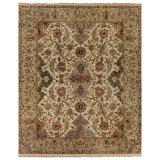 European Polonaise Ivory and Sage New Zealand Wool Rug (8' x 10')