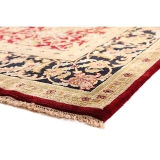 European Polonaise Red / Black New Zealand Wool Rug (9' x 12')