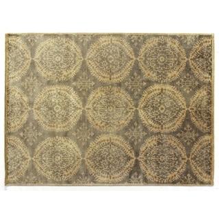 Royal Damask Grey New Zealand Wool Rug (9' x 12')