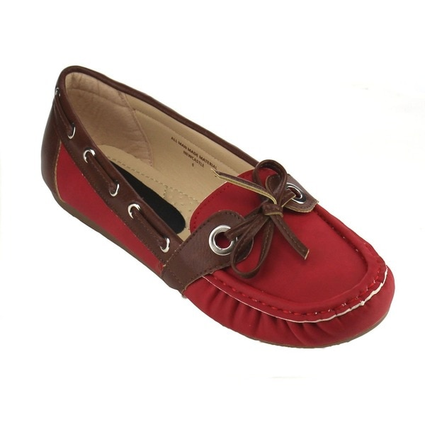 Beston Flat Heel Slip On Boat Shoe Driving Loafers