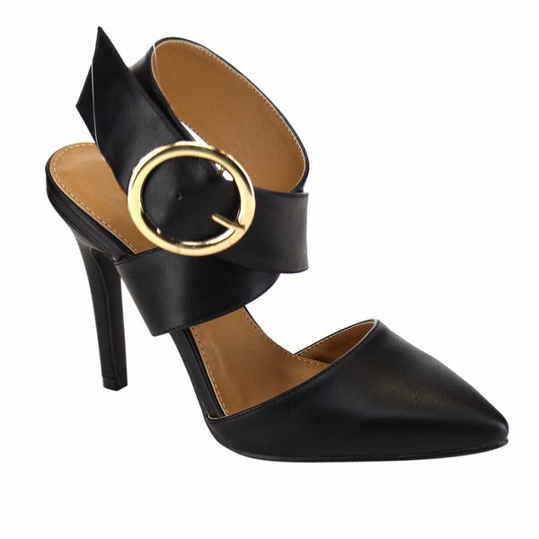Beston Buckle Stiletto Heels