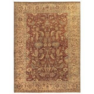 Serapi Rust / Gold New Zealand Wool Rug (9' x 12')
