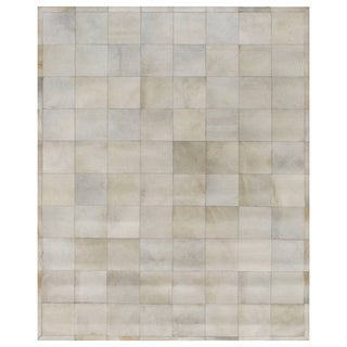 Natural Ivory Leather Hair-on-Hide Rug (5' x 8')