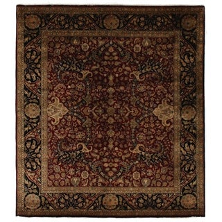 Super Kashan Maroon New Zealand Wool Rug (9' x 10')