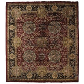 Exquisite Rugs Super Lavar Maroon New Zealand Wool Rug (9' x 10')
