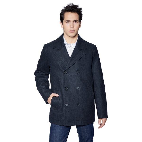 Men's Tommy Hilfiger Melton Classic Wool Peacoat