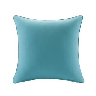 Madison Park Mission Aqua Solid 3M Scotchgard Indoor/ Outdoor Pillow 26-inch