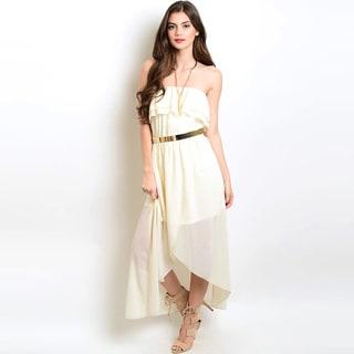 Shop the Trends Juniors' Woven Hi-Low Dress