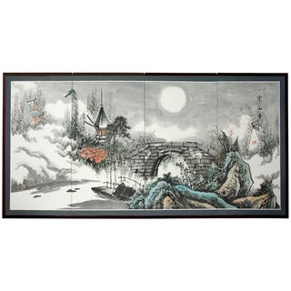 Bridge Over Full Moon Silkscreen (China)