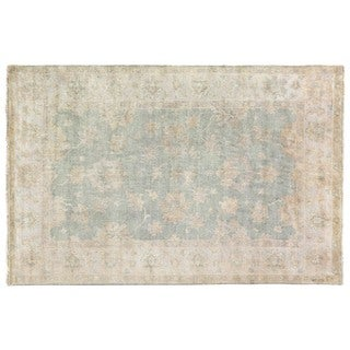 Turkish Oushak Light Blue New Zealand Wool Rug (10' x 14')