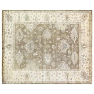 Turkish Oushak Sage New Zealand Wool Rug (10' x 14')