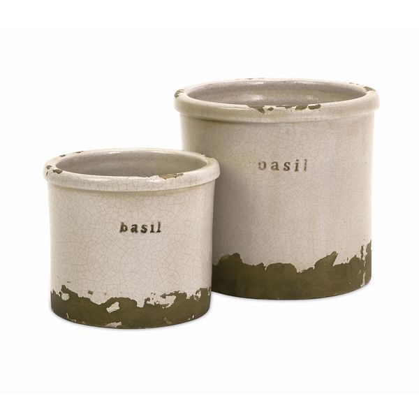 Basil Herb Pots (Set of 2)