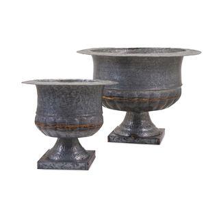 Carey Galvanized Urns (Set of 2)