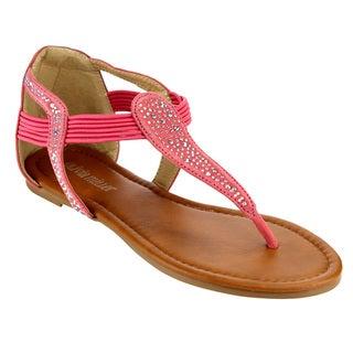 Olivia Miller Elastic T-strap Sandals