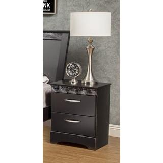 Sandberg Furniture Jolie 2-drawer Black Nightstand