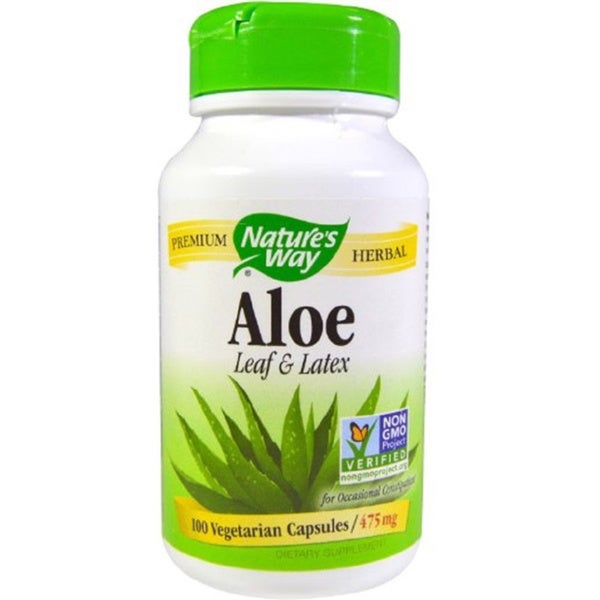 Nature's Way Aloe Vera Latex and Leaf Vegetarian (100 Capsules)
