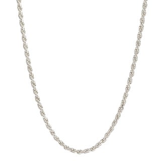 Pori Italian Sterling Silver 1mm Rope Chain Necklace