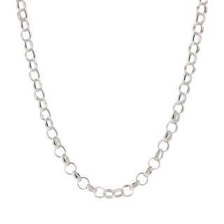 Pori Italian Sterling Silver Rolo Chain Necklace (3mm)