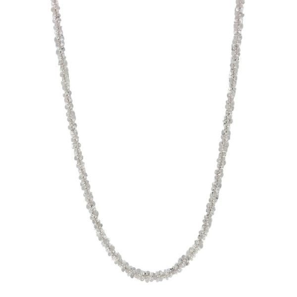 Pori Italian Sterling Silver Twisted Chain Necklace