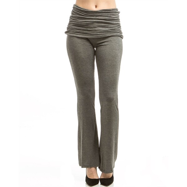 Jed Fashion Women's Fold-over Skirted Flared Bell-bottom Yoga Lounge Pants