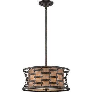 Quoizel Morrow With Mica Shade Pendant and 3 Lights