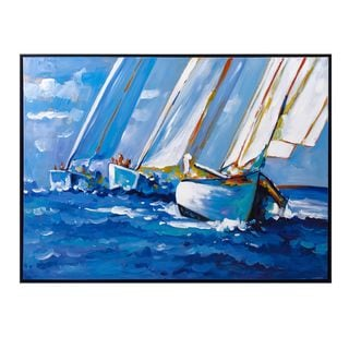 Sail Away Framed Oil Painting