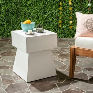 Safavieh Zen Mushroom Concrete Accent Table (Ivory)