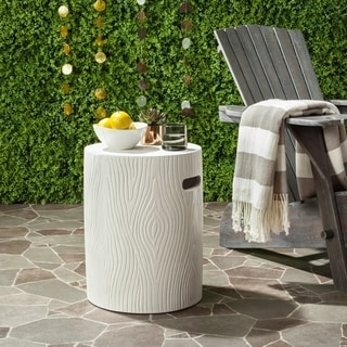 Safavieh Trunk Concrete Accent Table (Ivory)