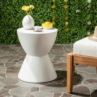 Safavieh Athena Concrete Accent Table (Ivory)
