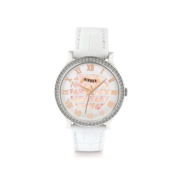 Hershey's Kisses Ladies KS010SLWT White Leather Strap Watch