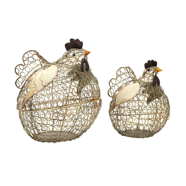 Elmore Wire Chickens (Set of 2)