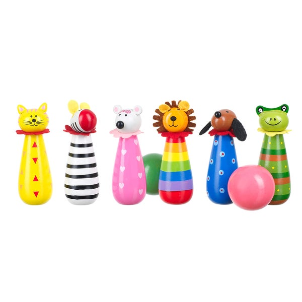 Orange Tree Toys Wooden Animal Skittles