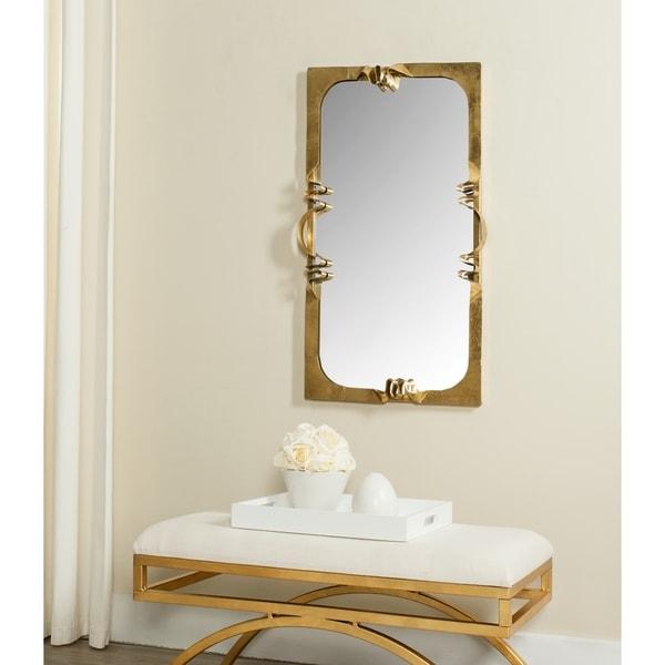 Safavieh Golden Ribbon Antique Gold Mirror