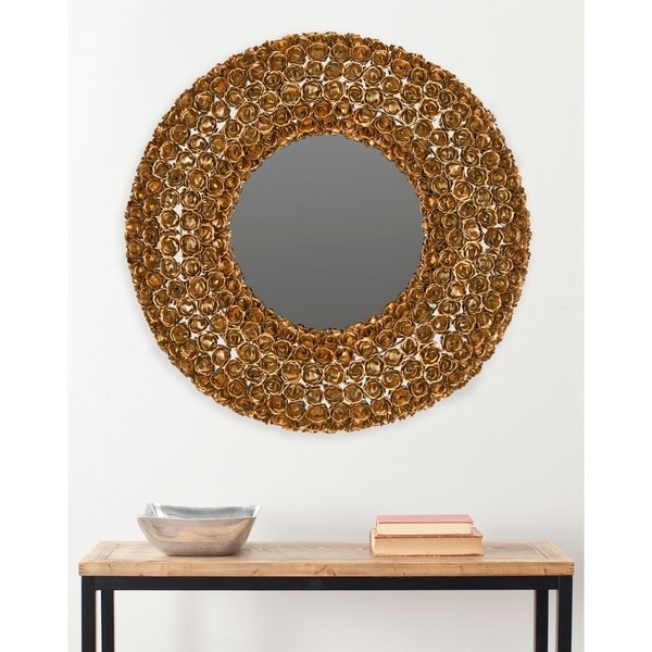 Safavieh Celtic Chain Antique Gold Mirror
