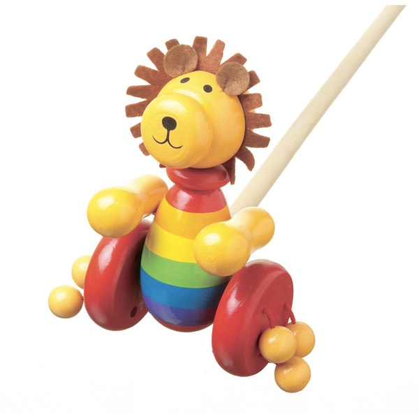 Orange Tree Toys Push-along Wooden Lion