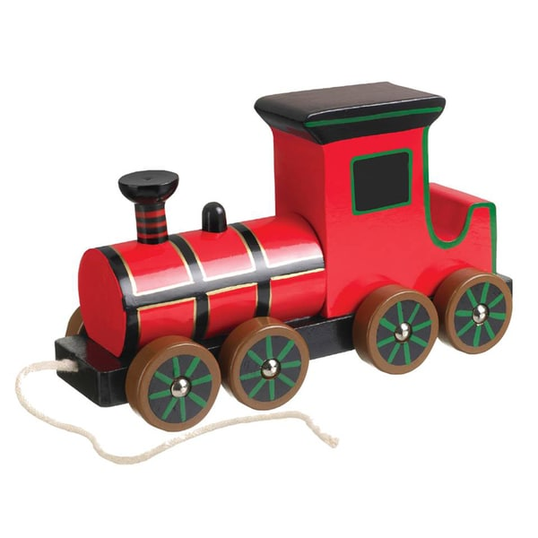 Orange Tree Toys Pull Along Wooden Steam Train