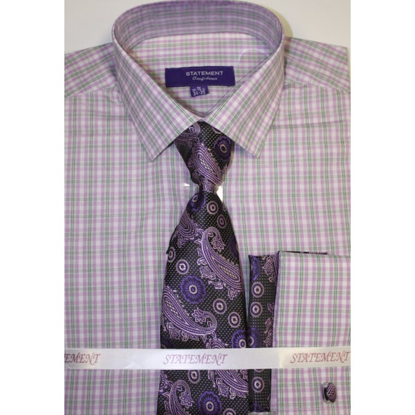 SH-818 Lilac Shirt, Tie and Hankie Set
