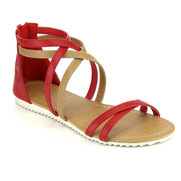 Beston Gladiator Flat Sandals