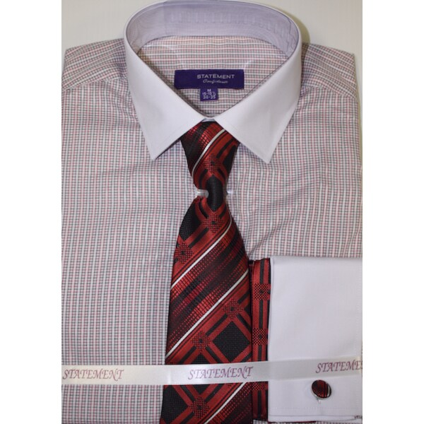 SH-813 Red Shirt, Tie and Hankie Set