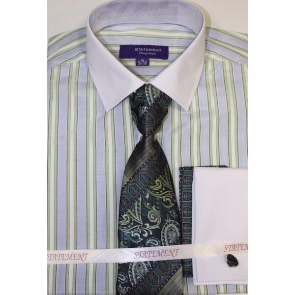 Statement SH-811 Mint Shirt Tie and Hankie Set