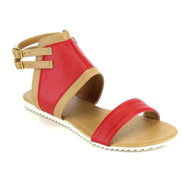 Beston Two Tone Flat Sandals